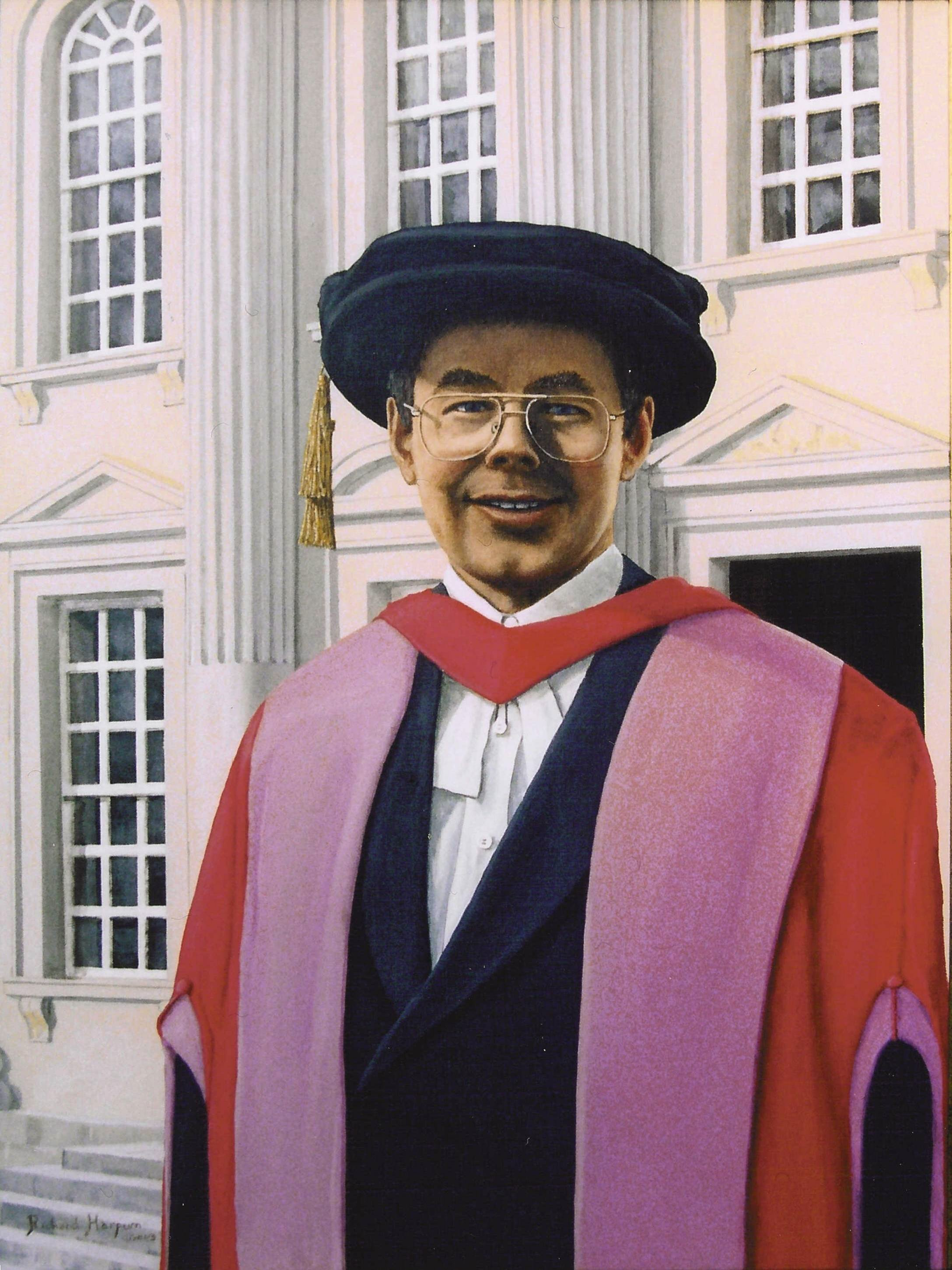 Painitng - Dr Charles Harpum Receiving Doctorate of Law