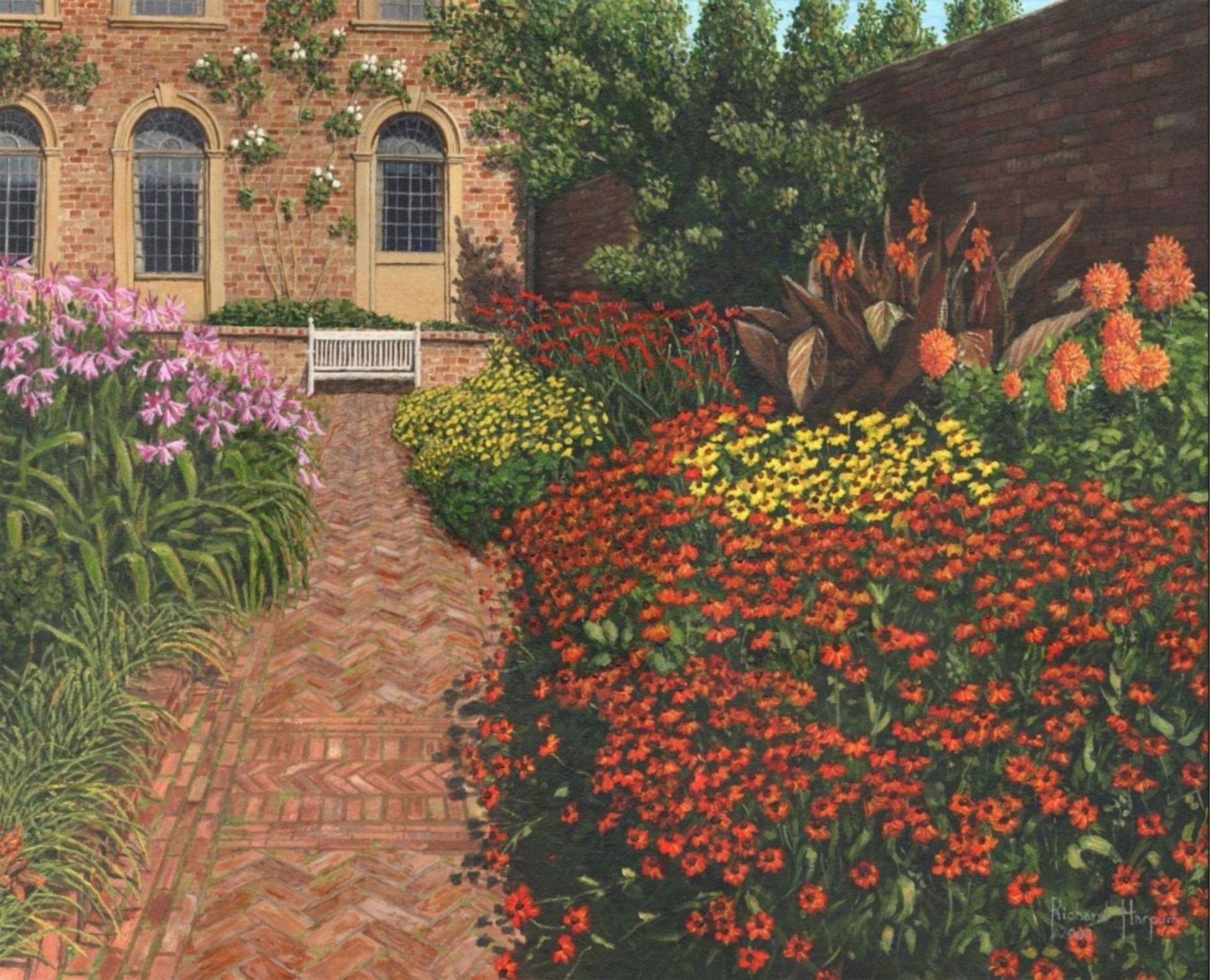 Painting - Barrington Court Gardens, Somerset