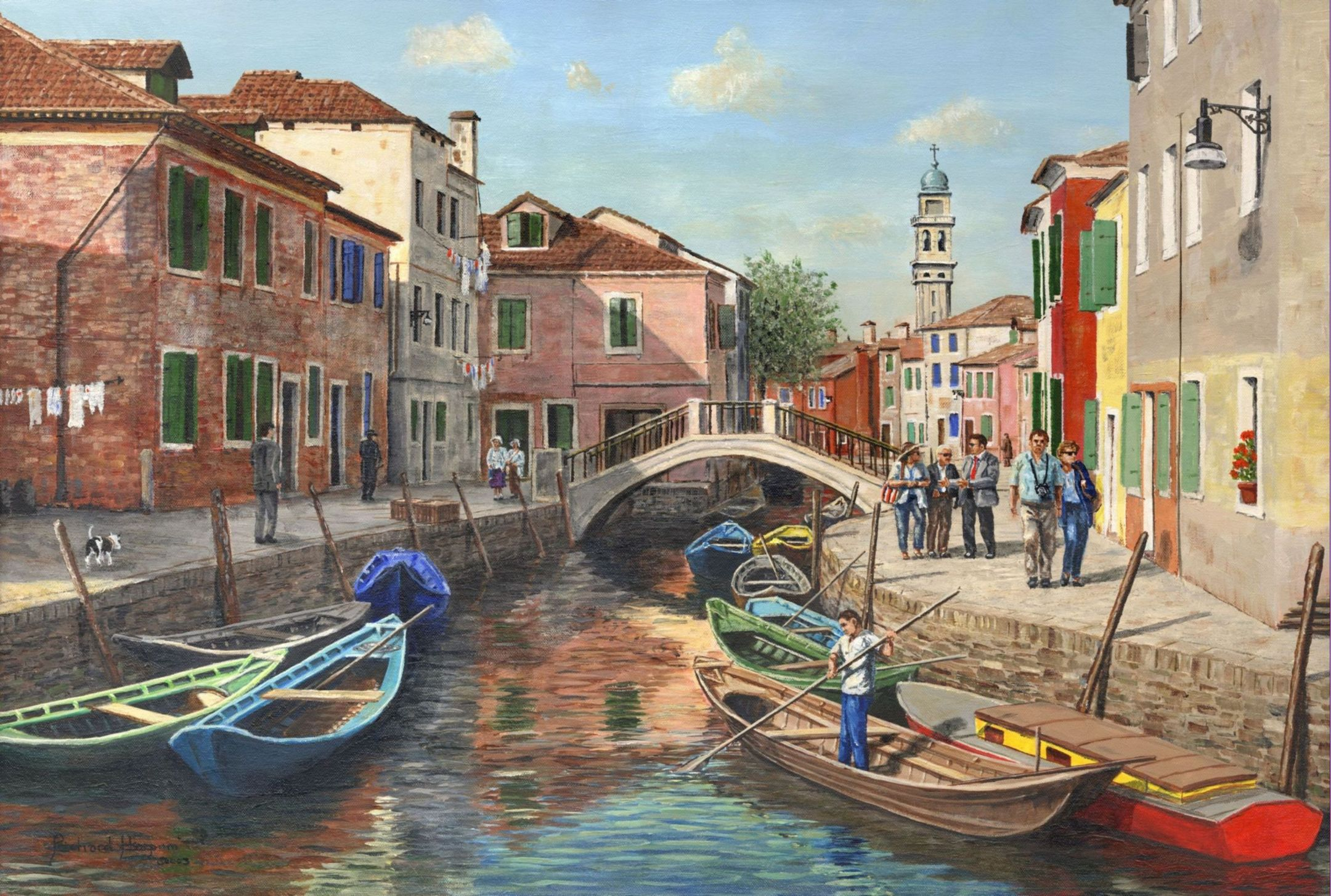 Painting - Burano Canal (Venice)