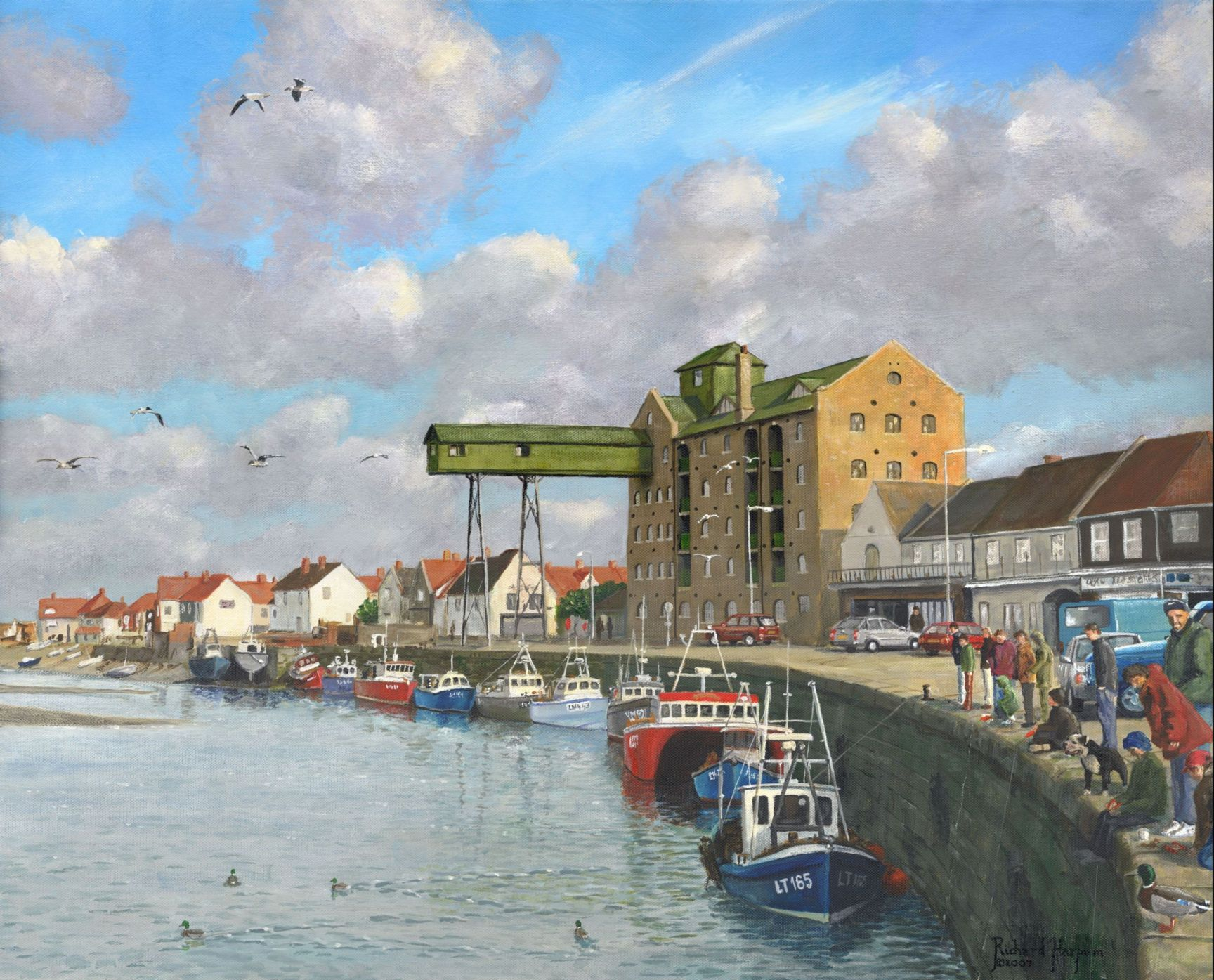 Painting - Crabbing, Wells-next-the-Sea, Norfolk
