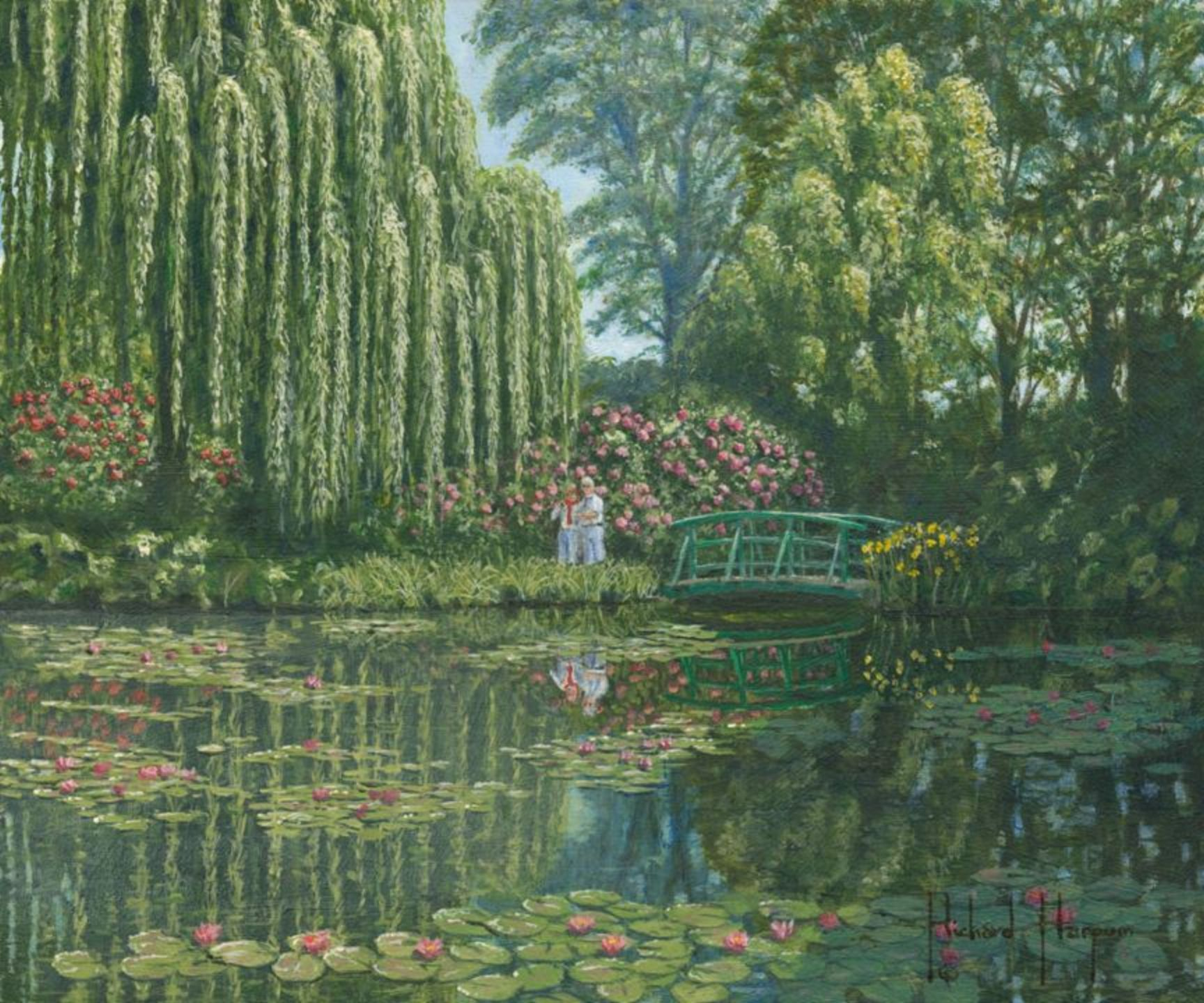 Painting - Giverny Reflections
