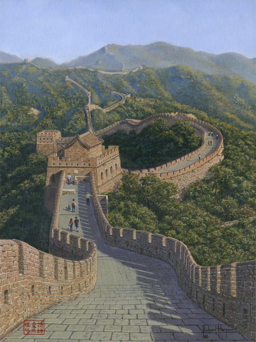 Painting - Great Wall of China - Mutianyu Section