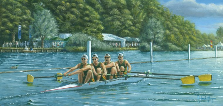 Painting - Hitting the Pain Barrier - Henley Regatta