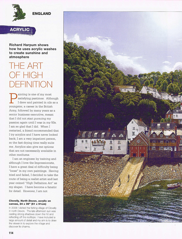 International Artist Magazine Article on Richard Harpum's Art Techniques