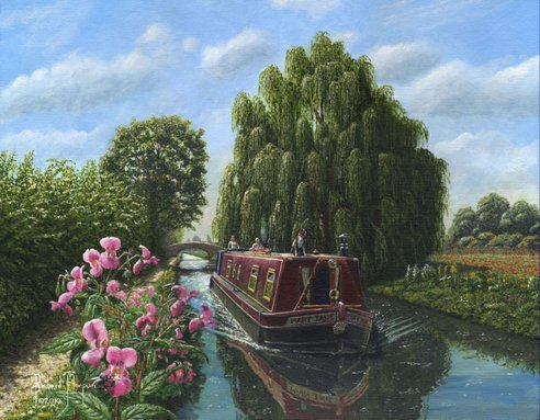 Painting - Mary Jane, Chesterfield Canal, Notts