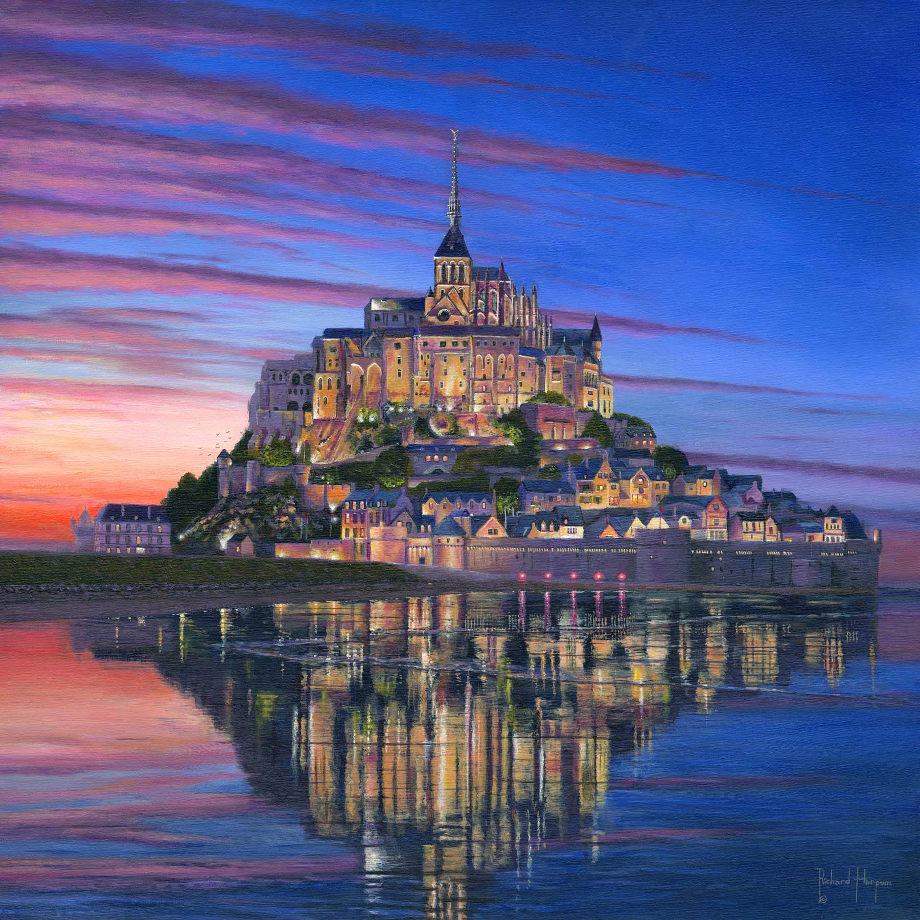 Painting - Mont Saint-Michel Soir