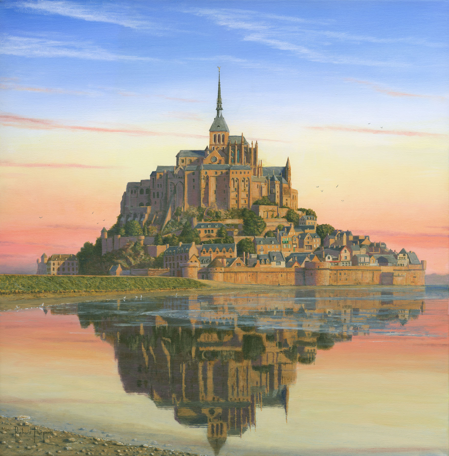 Painting - Mont Saint-Michel Morn