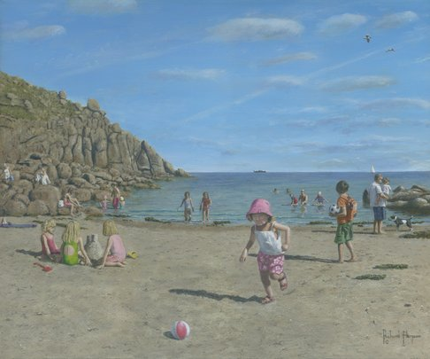 Painting of Porthgwarra Beach, Cornwall, England