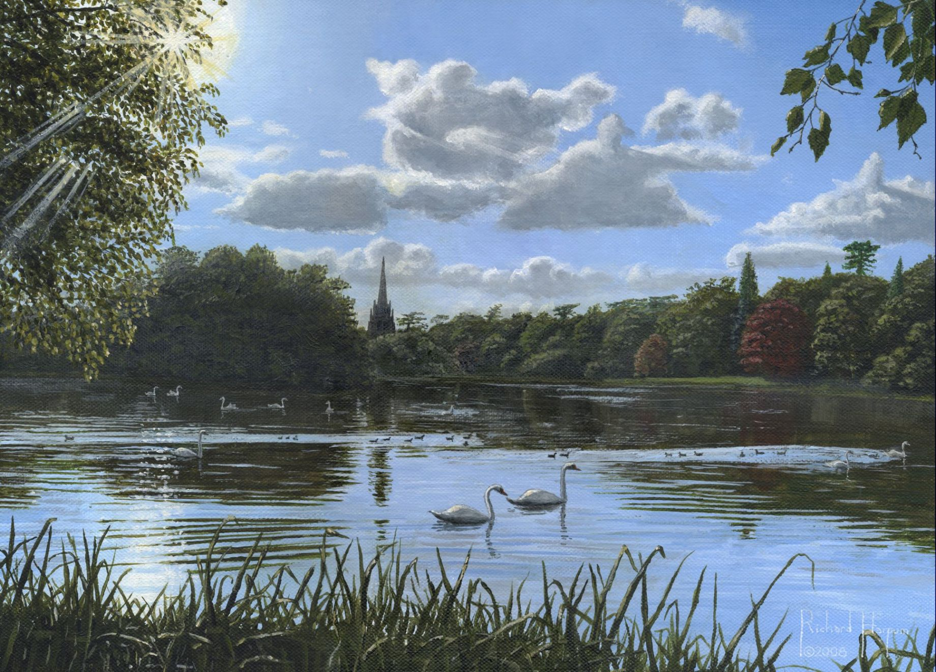Painting - September Afternoon in Clumber Park