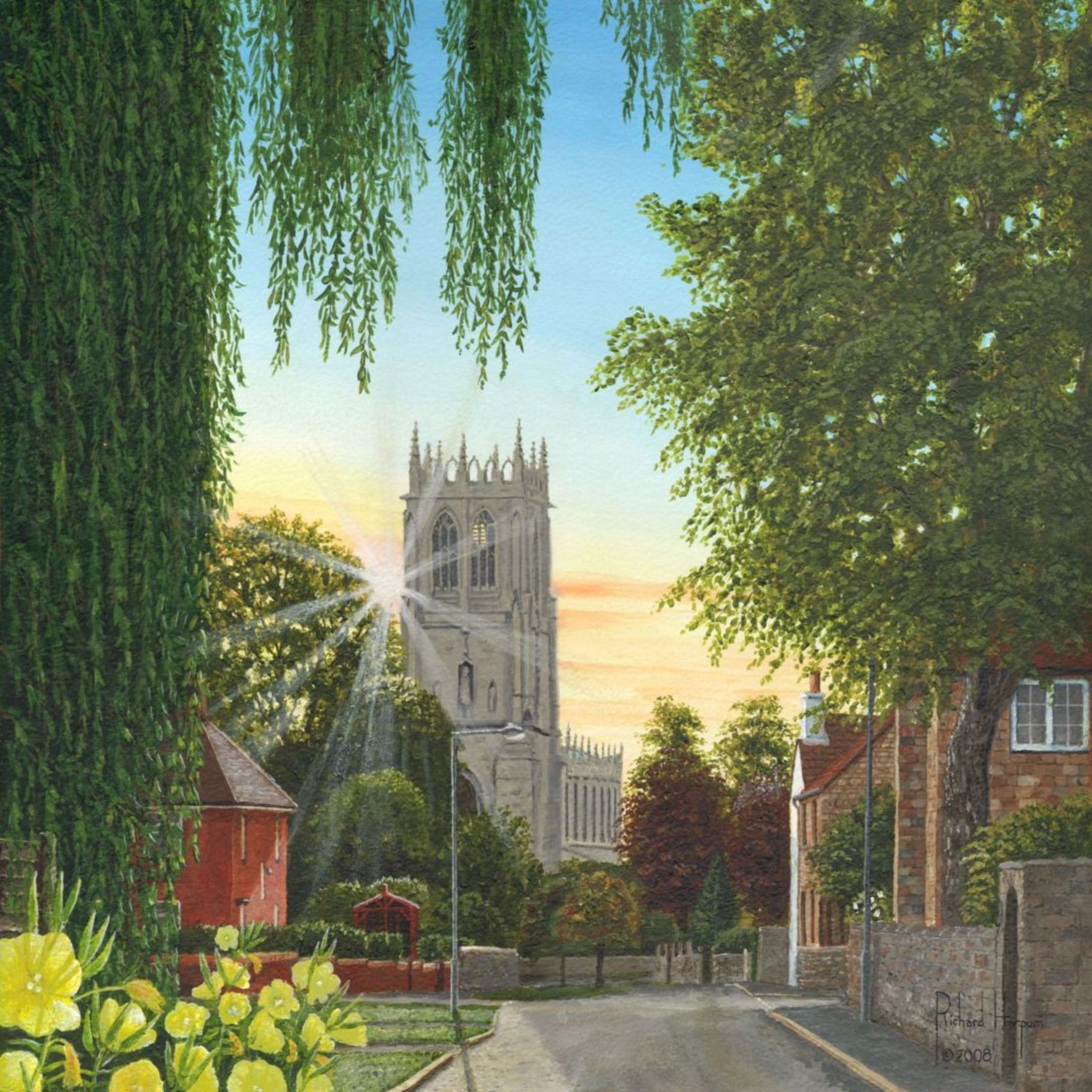 Painting - Summer Morning, St. Mary's Church, Tickhill