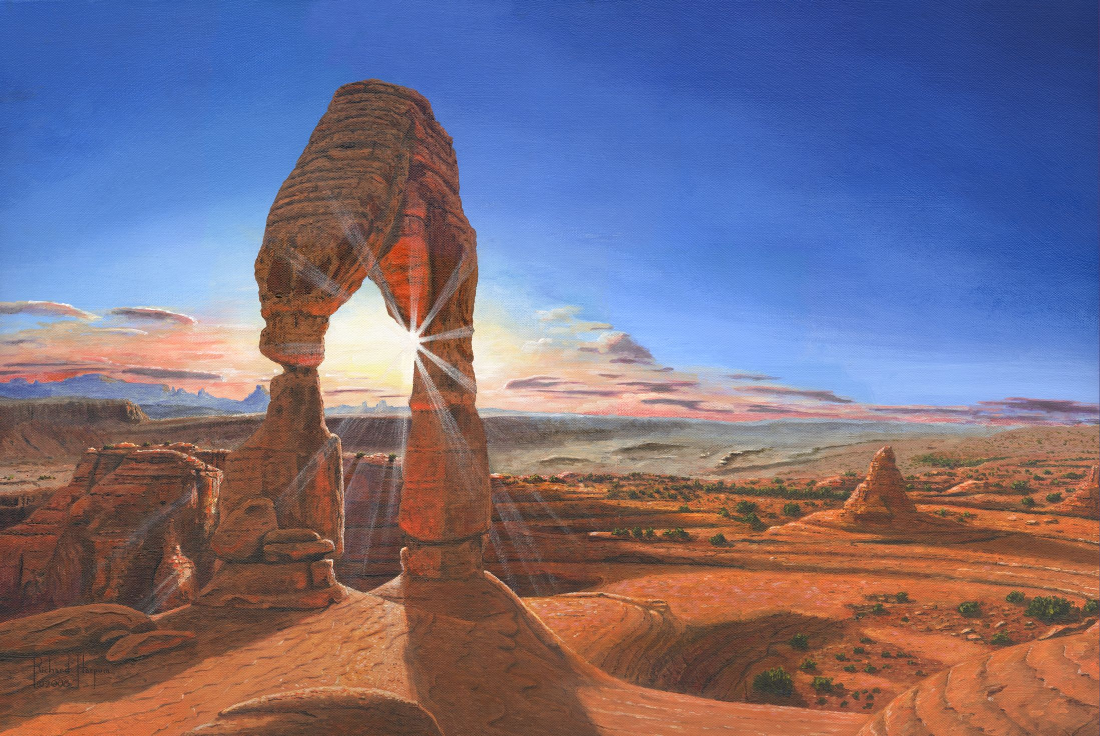 Painting - Sunset at Delicate Arch, Utah