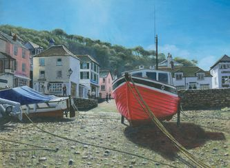 The Red Boat, Polperro, Cornwall