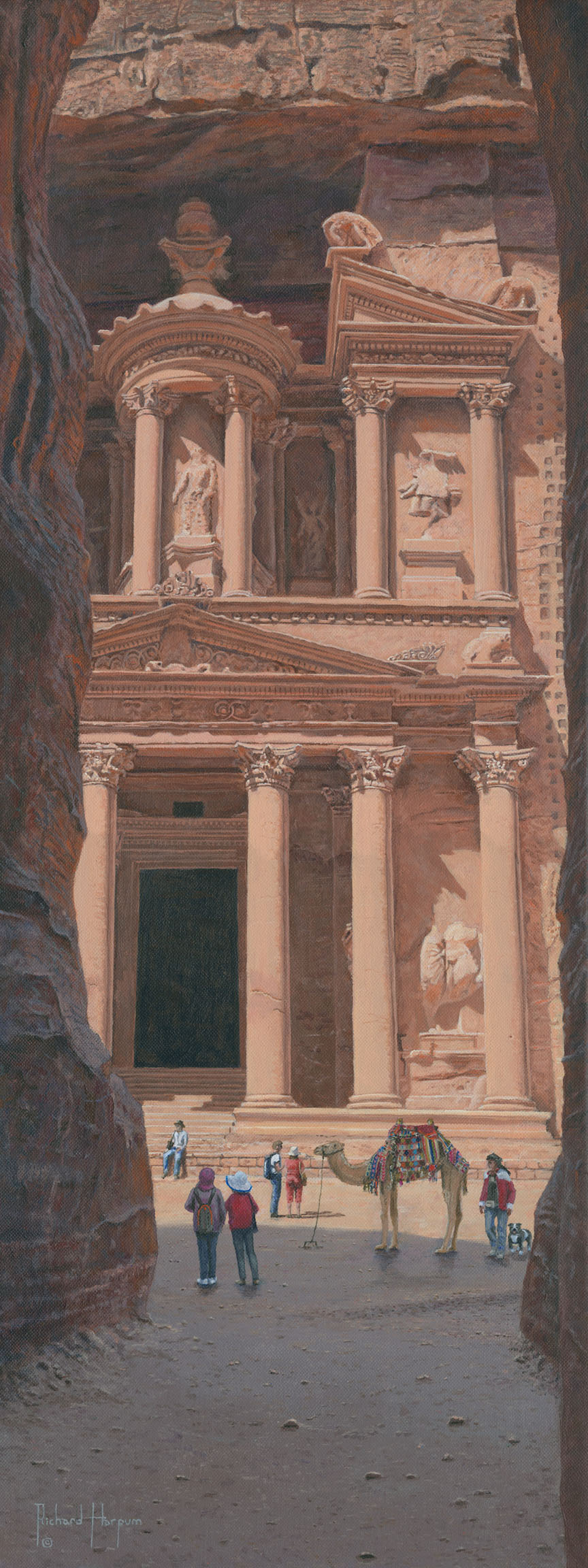 Painting - The Treasury, Petra, Jordan