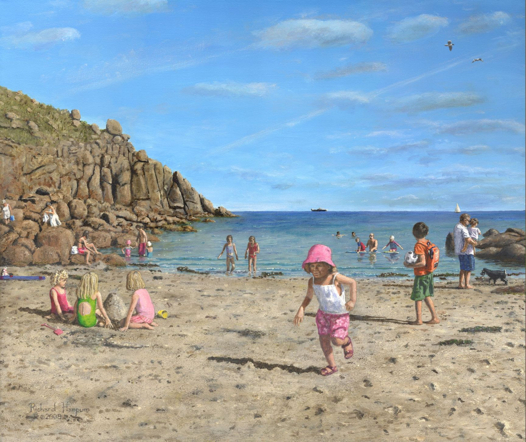 Painting - Time to go Home (Porthgwarra Beach, Cornwall)