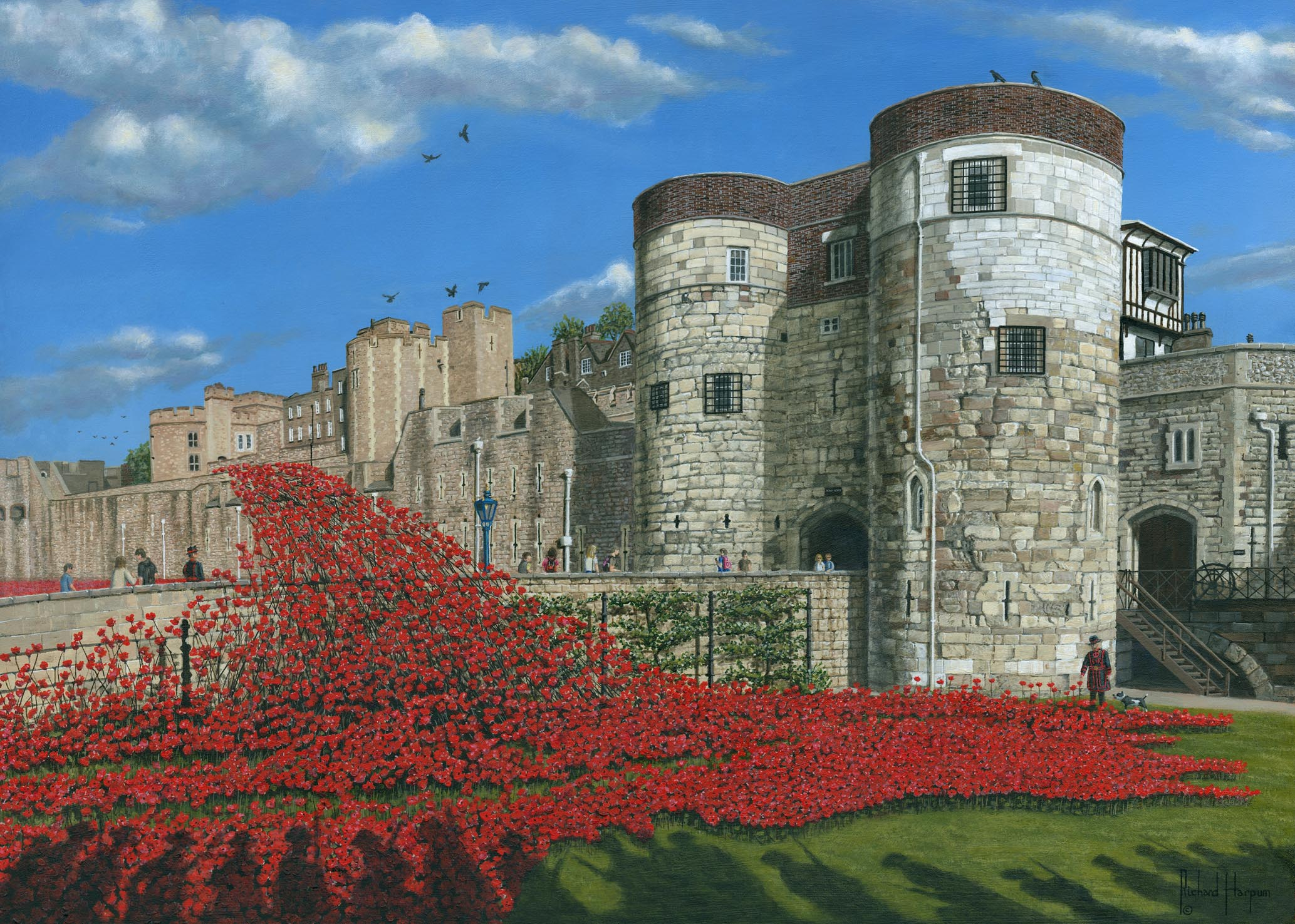 Painting - Tower of London Poppies - Blood Swept Lands and Seas of Red