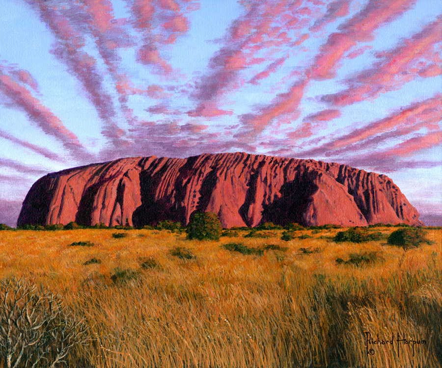Painting - Uluru Sunset - Ayers Rock, Central Australia