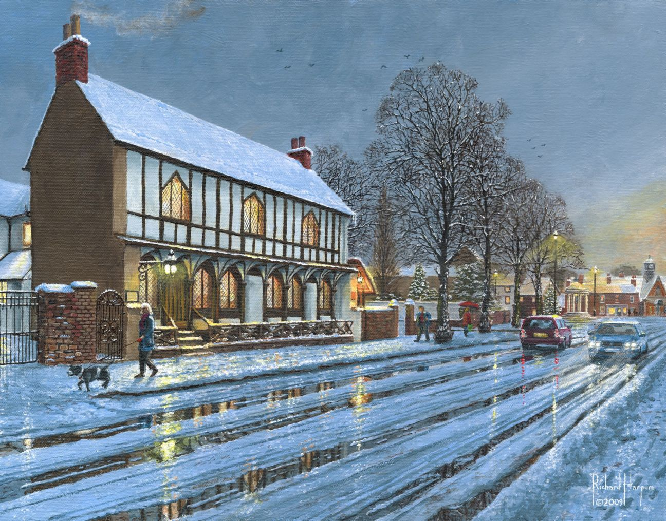 Painting - Winter Glow, Parish Room, Tickhill
