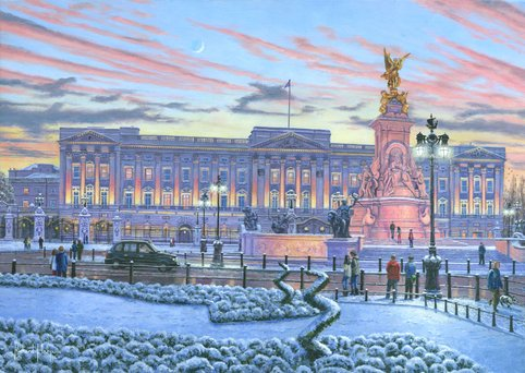 Painting - Winter Lights, Buckingham Palace, London