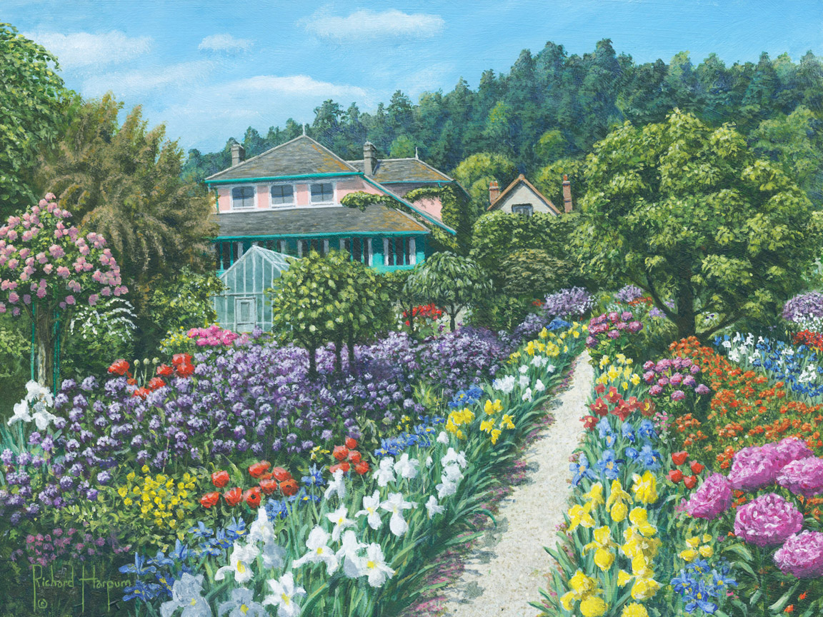 Monet Garden At Giverny Print Garden Ftempo